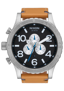 Nixon 51-30 Chrono Leather Black Natural (A1242299)