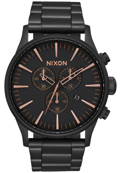 Nixon Sentry Chrono All Black Rose Gold (A386957)
