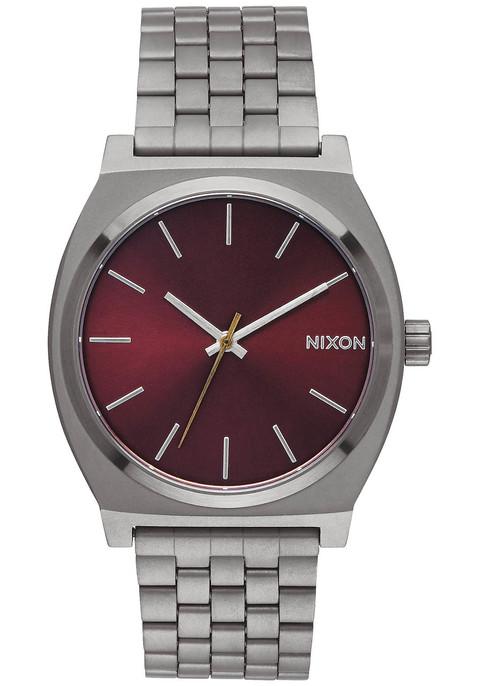 Nixon Time Teller Gunmetal Deep Burgundy (A0452073)