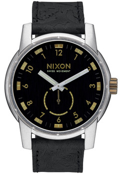 Nixon Patriot Leather Black Brass (A9382222)