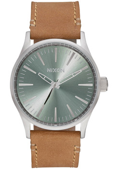 Nixon Sentry 38 Leather Saddle Sage (A3772217)