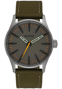 NIXON Sentry 38 Nylon Gunmetal Surplus (A4262072)