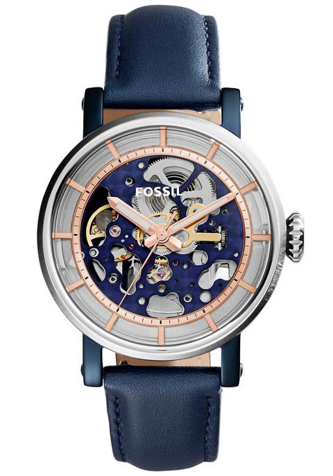 Fossil Me3136 Original Boyfriend Automatic Leather Blue