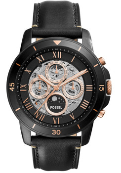 Fossil ME3138 Grant Sport Automatic Leather Black (ME3138)