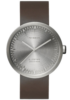 LEFF Amsterdam Tube Watch Leather D38 Steel Brown (LT71002)