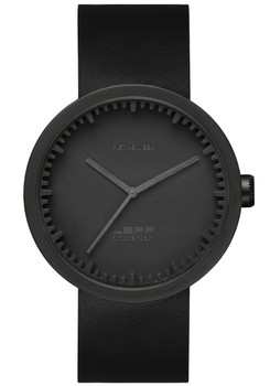 LEFF Amsterdam Tube Watch Leather D38 Black Black (LT71011)