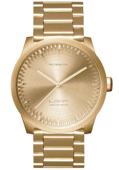 LEFF Amsterdam Tube Watch S38 All Brass (LT71103)