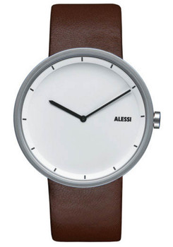 Alessi OUT-TIME Brown Leather White (AL13001)