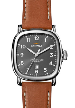 Shinola Guardian 41mm Cool Gray Brown