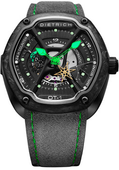 Dietrich OT-1 Forged Carbon Bezel Green (OT-1-Carbon)