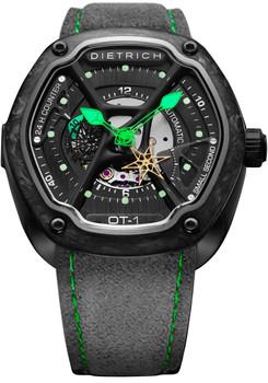 Dietrich OT-1 Forged Carbon Bezel Green (OT-1-Carbon)