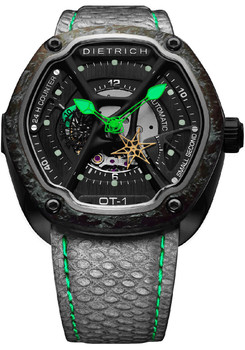 Dietrich OT-1 Green Luminescent Carbon Bezel Green (OT-1-Carbon-Green)