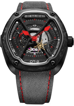 Dietrich OT-2 Forged Carbon Bezel Red (OT-2-Carbon)