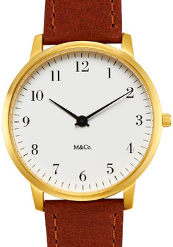 M&Co Bodoni 40mm Brass Brown (7401BR-BR40)