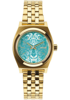 Nixon Small Time Teller Gold Blue Beetlepoint (A3991899)