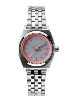 Nixon Small Time Teller Silver Neon Pink (A3991764)