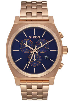 Nixon Time Teller Chrono All Rose Gold Navy Sunray (A9722398)