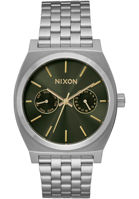 Nixon Time Teller Deluxe Olive Sunray (A9222210) FRONT