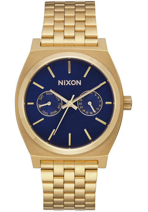 Nixon Time Teller Deluxe All Gold Navy Sunray (A9222347) FRONT