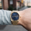 Nixon Time Teller Deluxe All Gold Navy Sunray (A9222347)