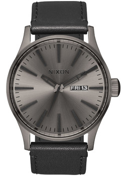 Nixon Sentry Leather Gunmetal Black (A1051531)