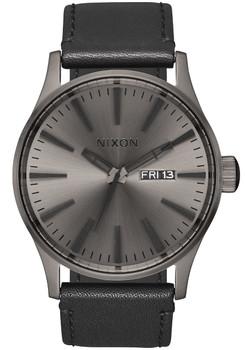 Nixon Sentry Leather Gunmetal Black (A1051531)