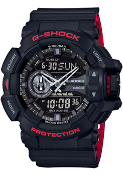 G-Shock GA-400 Anadigi Black Red (GA-400HR-1A) FRONT