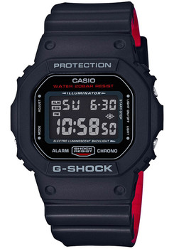G-Shock DW-5600HR Black Red (DW-5600HR-1) FRONT