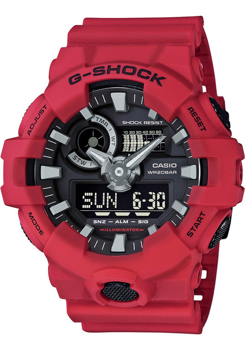 G-Shock GA-700 Anadigi Red Black (GA-700-4A) FRONT