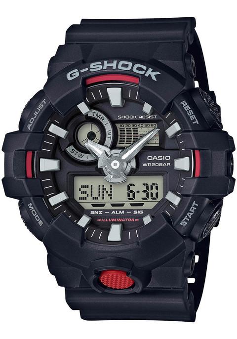 G-Shock GA-700 Anadigi Black (GA-700-1A) front
