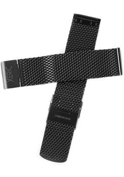 Xeric 24mm Black PVD Mesh Strap (XRC-MESH-24-BKBK)