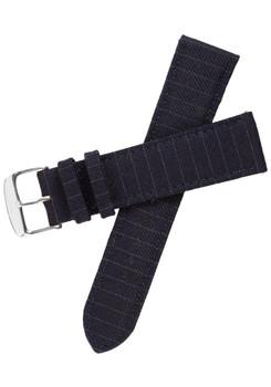 Xeric Savile Row 22mm Navy Pinstripe