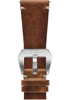 CT Scuderia 26mm Waxed Medium Brown Leather Strap (GS1424)