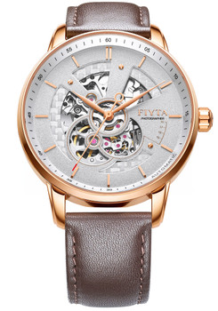Fiyta Photographer Automatic Skeleton Brown Rose Gold (WGA860011-PWK)