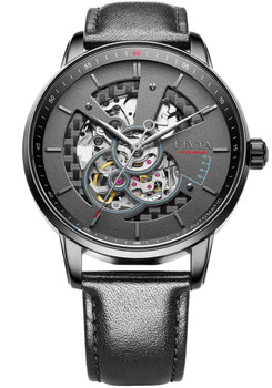 Fiyta Photographer Automatic Skeleton Leather Black (GA860012-BBB)