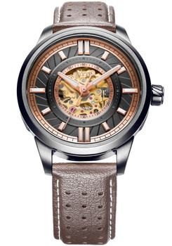 Fiyta Roadster Automatic Skeleton Brown Rose Gold (WGA866007-BBK)