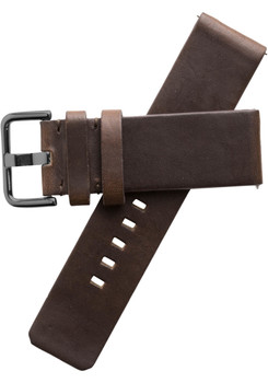 Xeric 24mm American Horween Dark Brown/Gun Leather Strap (XRC-SOLO-24-BRGN)
