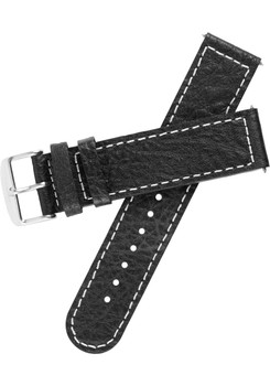 Rebosus 22mm Pebbled Black Leather Replacement Strap (REBOSUS-22-STRAP)