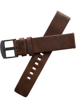 Xeric 20mm American Horween Dark Brown/Gun Leather Strap (XRC-RQSQ-20-BRGN)