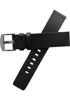 Xeric 20mm American Horween Black/Gun Leather Strap (XRC-RQSQ-20-BKGN)