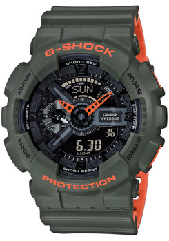 G-Shock GA-110 Layered Neon Green (GA110LN-3A)
