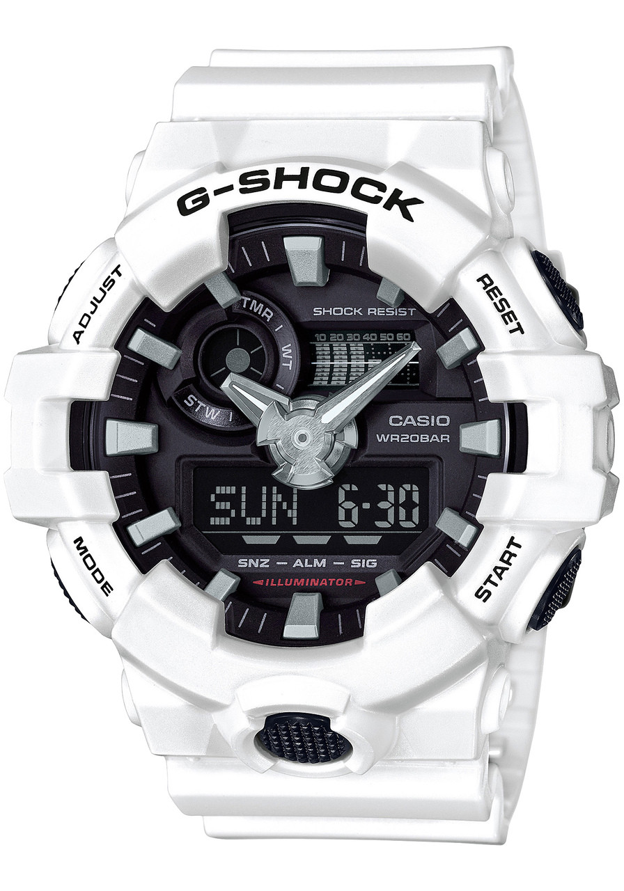 Best leather strap watches men images best ideas about watches for - G Shock Ga 700 Anadigi White Ga700 7a