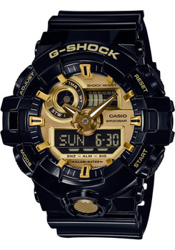 G-Shock GA-710 Anadigi Black Gold (GA710GB-1A)