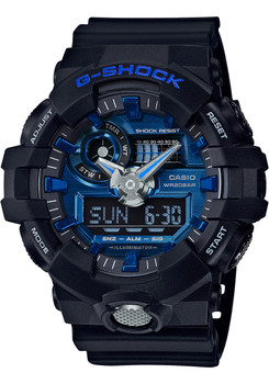 G-Shock GA-710 Anadigi Black Blue (GA710-1A2)
