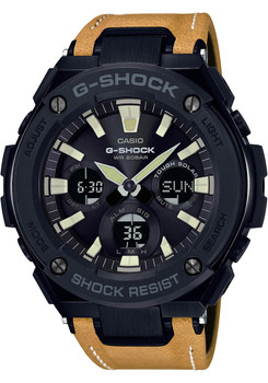 G-Shock G-Steel Tough Leather Tan Black (GSTS120L-1B)
