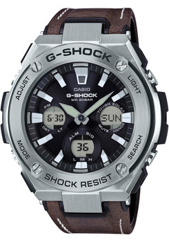 G-Shock G-Steel Tough Leather Brown/Silver (GSTS130L-1A)