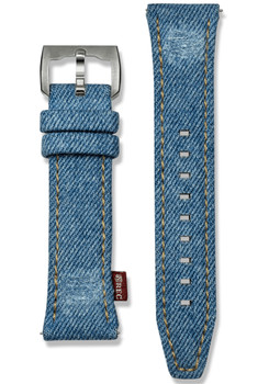 REC P-51 24mm Denim Watch Strap (REC-DENIM-24-BLUE)