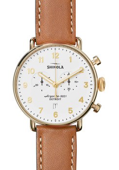 Shinola Canfield Chronograph Tan (S0120044134) front