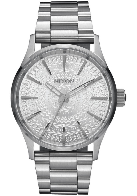 Nixon Sentry 38 SS All Silver Stamped (A4502129)