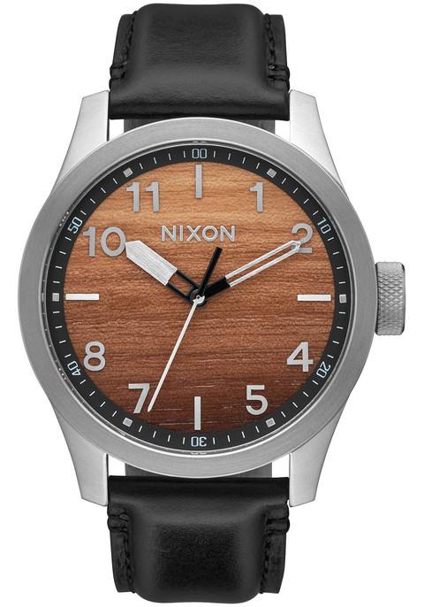 Nixon Safari Leather Wood Silver (A9752457)